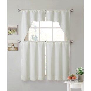 White Lace Kitchen Curtains | Wayfair