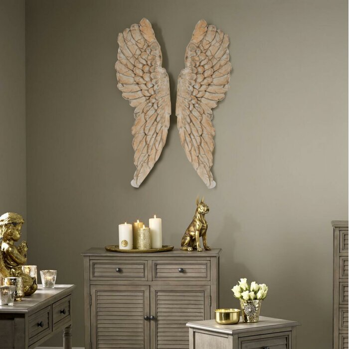 Angel Wings Statue Wall Décor
