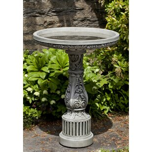 Campania International Smithsonian Cottage Garden Birdbath