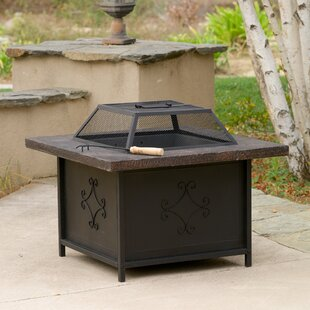 Home Loft Concepts Lestar Iron Charcoal Fire Pit Table