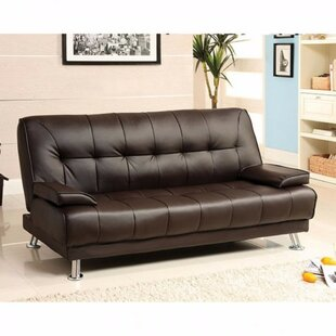 Latitude Run Jhunjhunwala Leatherette Convertible Sofa