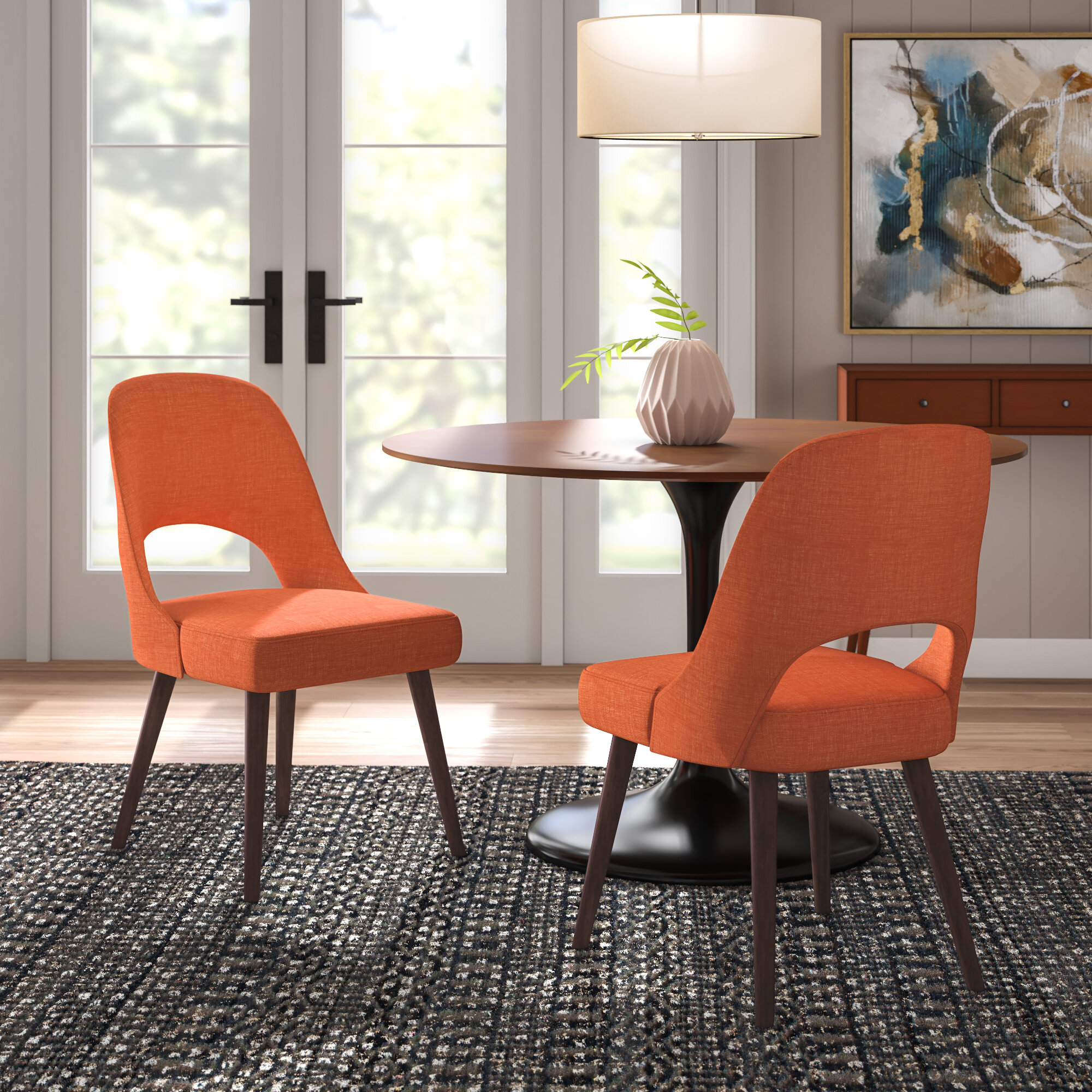Picture of: Langley Street Berardi Upholstered Dining Chair Reviews