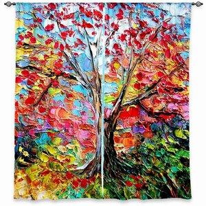 Girard Aja Ann's Story of the Tree 59 Room Darkening Curtain Panels (Set of 2)