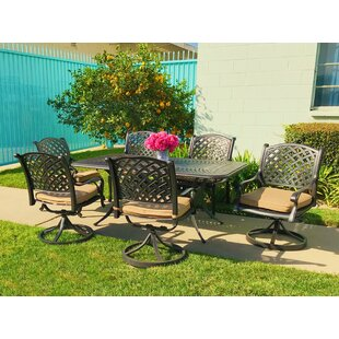 Darby Home Co Beadle 7 Piece Sunbrella Dining Set with Cushions