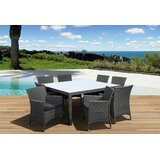 Finola 9 Piece Dining Set with Cushions