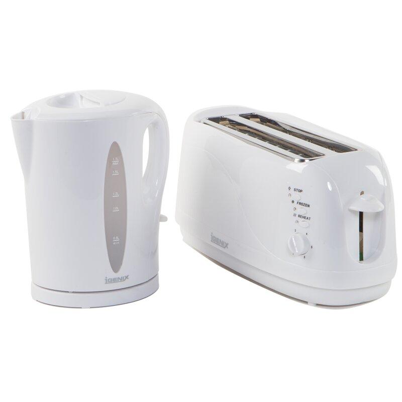 33d859ccf751 Igenix 4 Slice Toaster and Kettle Breakfast Set   Wayfair.co.uk