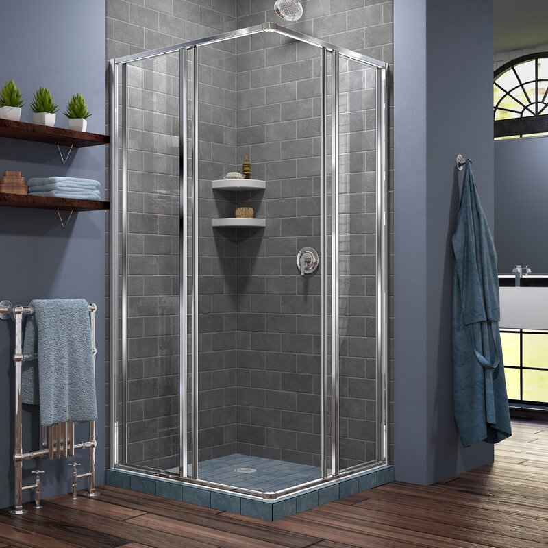 q soft lewis waste sliding d at b enclosure cooke shower single close tray carmony w door departments prd rectangular bq with diy pack