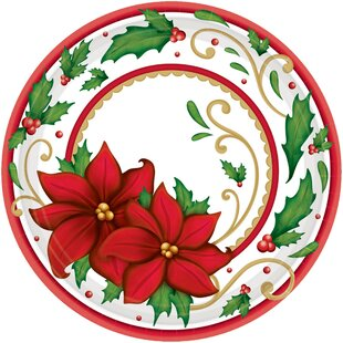 Christmas Paper Appetizer Plate (Set of 60)