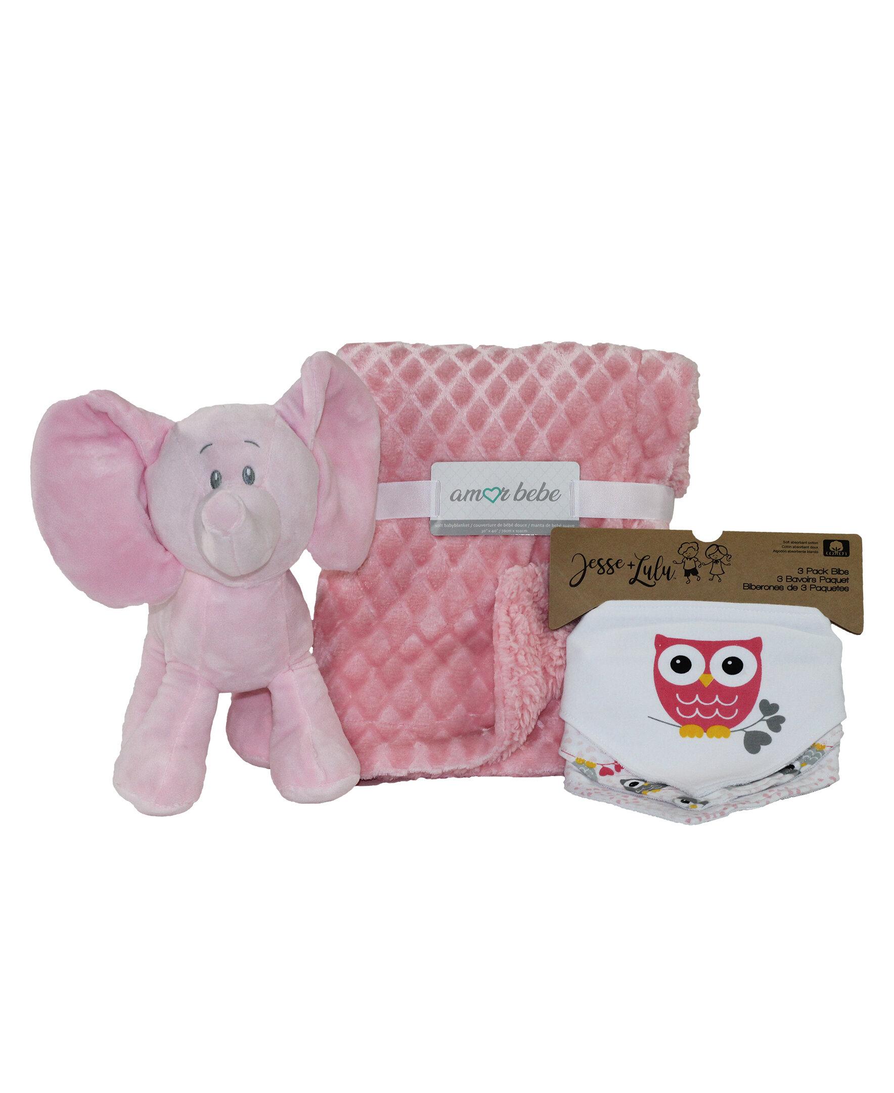 Zoomie Kids Sullivan 5 Piece Plush Elephant Baby Blanket Set Wayfair Ca
