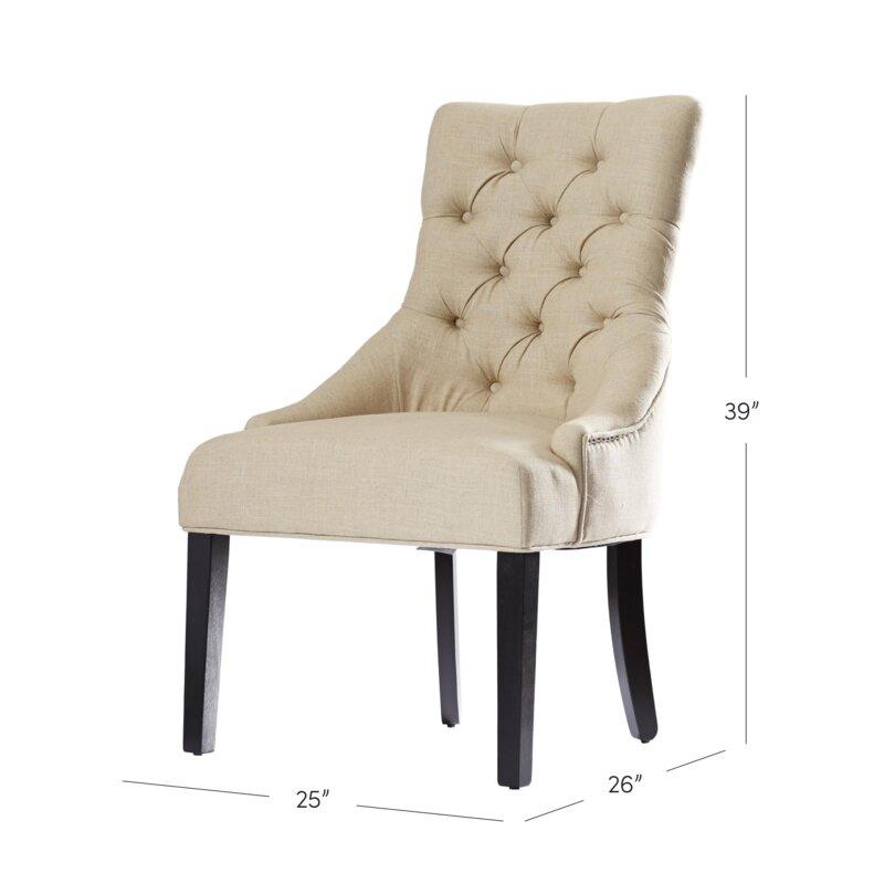 Superbe Lamb Tufted Nailhead Side Chair