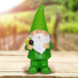 Sau Solar Colorful Woodland Gnomes Statue By Red Barrel Studio