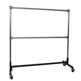 Compare prices 63 W Heavy Duty Double Rail Garment Rack ByQuality Fabricators