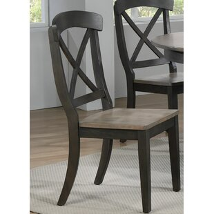 Debbra Transitional Solid Wood Dining Chair (Set of 2)
