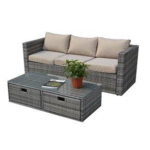 Algarve 6 Seater Rattan Sofa Set By Sol 72 Outdoor