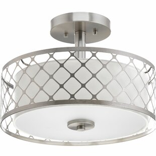 Komal 1-Light Semi-Flush Mount by Latitude Run