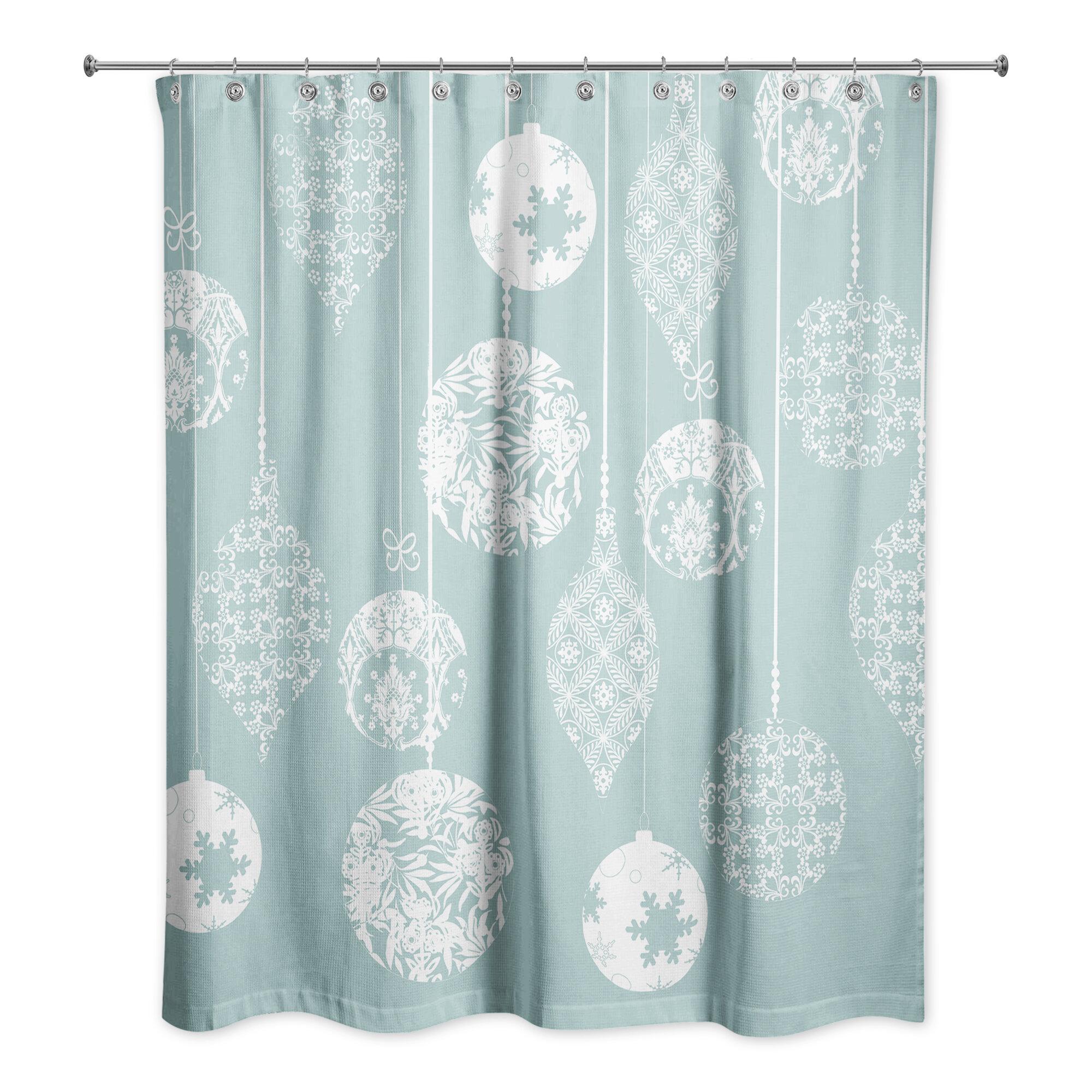 The Holiday Aisle Worceer Ornaments Single Shower Curtain Wayfair
