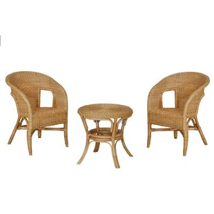Allon 2 Seater Rattan Conversation Set By Bay Isle Home