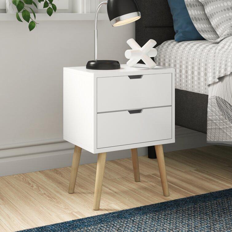 Zipcode Design Lalani 2 Drawer Bedside Table Reviews Wayfair Co Uk