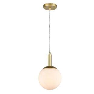 Lorrie 1-Light Globe Pendant by Wrought Studio