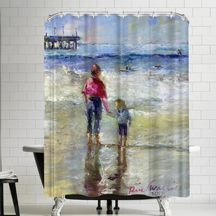 Richard Wallich Sisters Single Shower Curtain by East Urban Home Cheap
