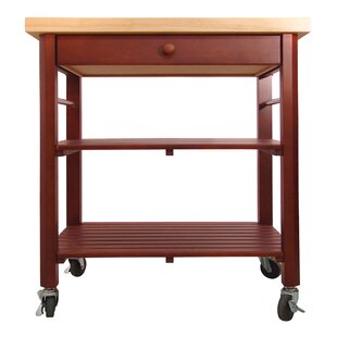 Roll About Kitchen Cart with Wood Top Catskill Craftsmen, Inc.