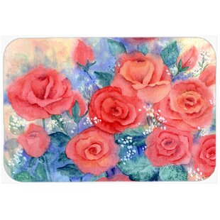 Roses Glass Cutting Board