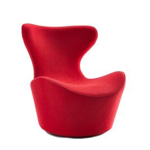 Orren Ellis Citronelle Upholstered Swivel Side Chair