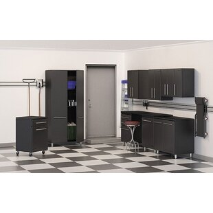Garage 7' H x 2' D 9-Piece Deluxe Storage System with Workstation by Ulti-MATE