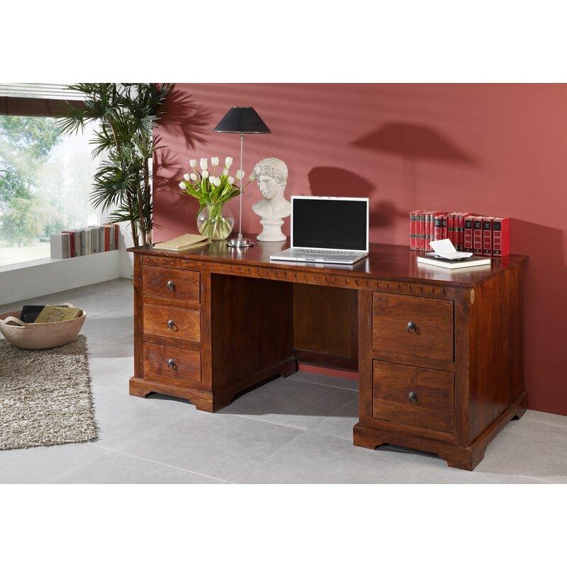 Massivmoebel24 Oxford Desk Wayfair Co Uk