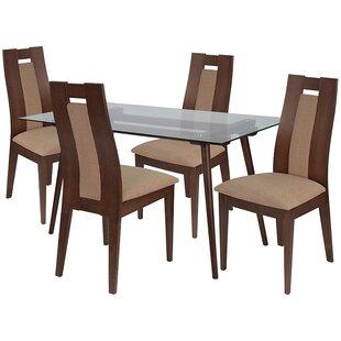 Emelia 5 Piece Dining Set by Ebern Designs