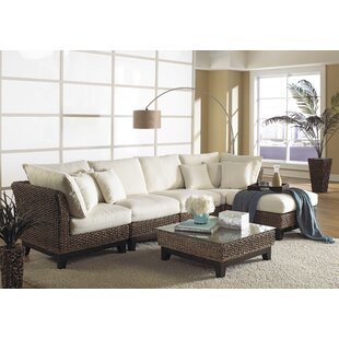 Sanibel 144 Right Hand Facing Sectional with Ottoman by Panama Jack Sunroom