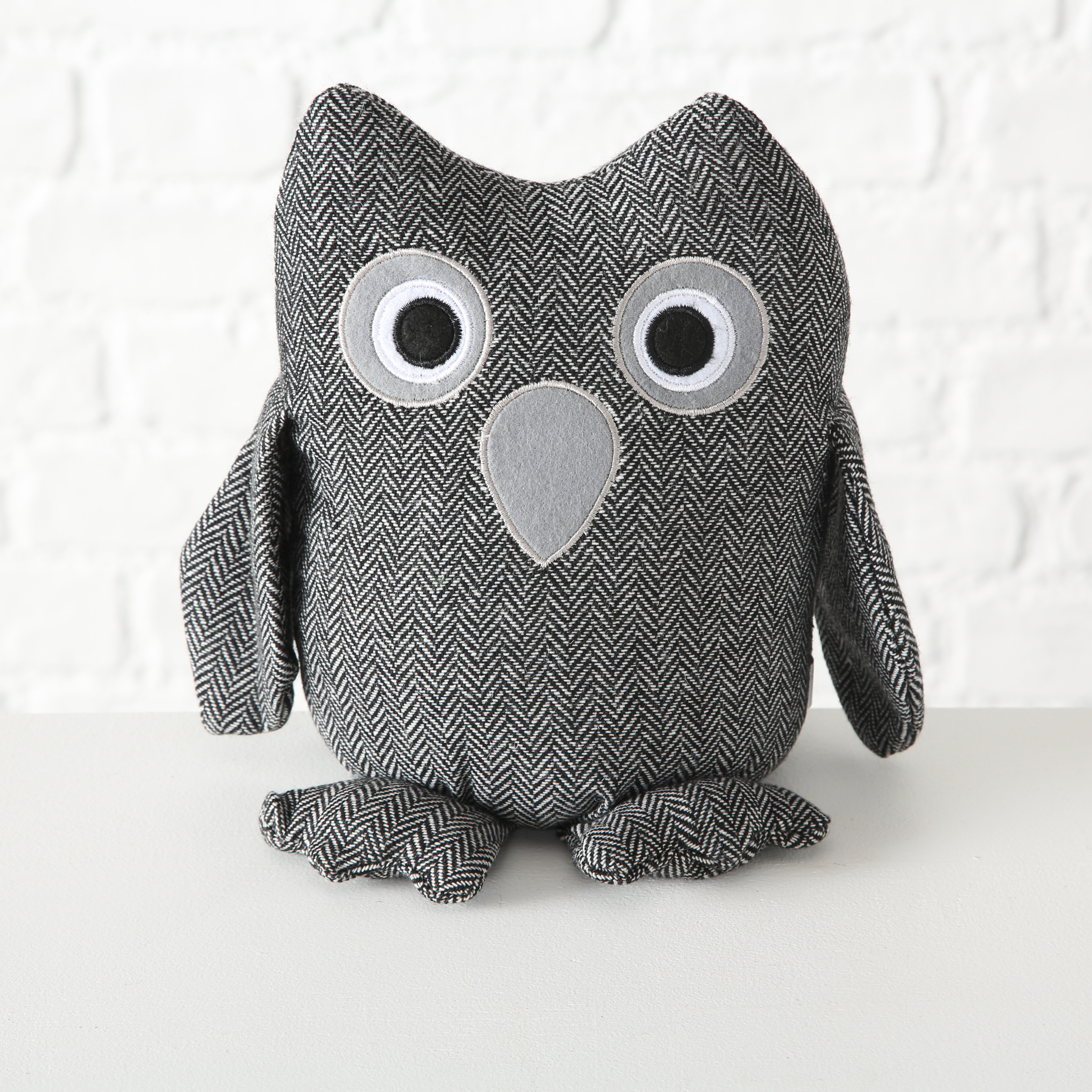 Wholehouseworlds Bo The Baby Barn Owl Door Fabric Weighted Floor Stop Wayfair
