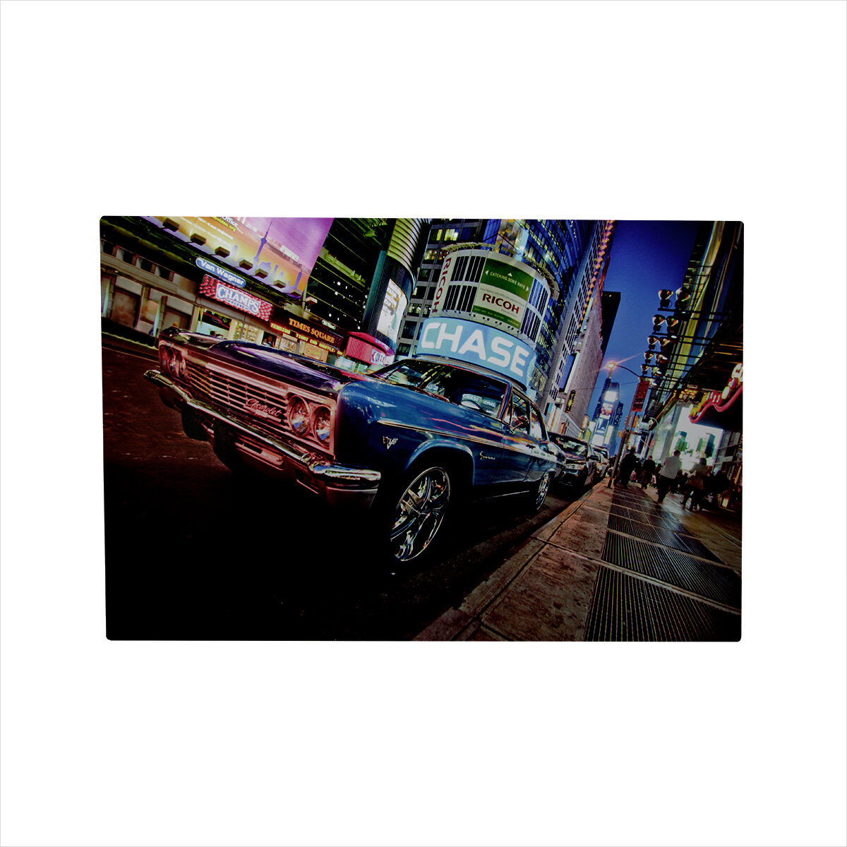 Northlight Battery Operated 8 Led Nyc Time Square Classic Car Photographic Print On Canvas Wayfair