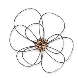 Wire Flower Metal Wall Décor