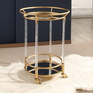 Mercer41 Surrey Cylinder Bar Cart