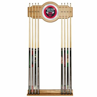 NBA Billiard Cue Rack with Mirror by Trademark Global
