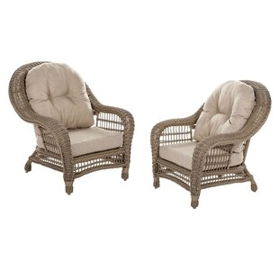 Procopio Patio Chair with Cushions (Set of 2)