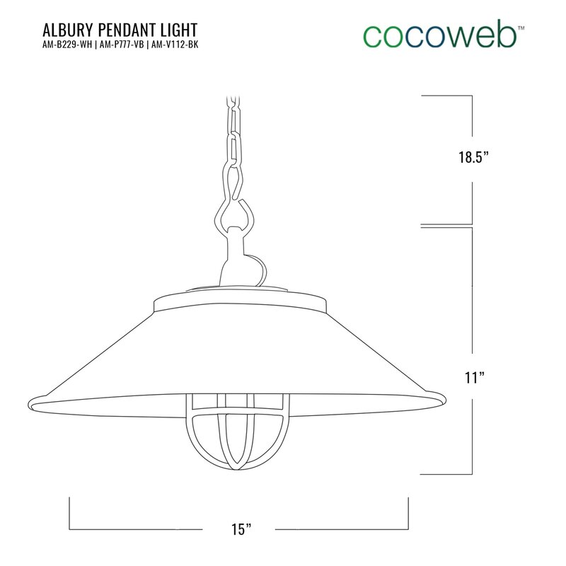 Cocoweb Albury Nautical Led Pendant Light With Industrial Cage Brass Tools Home Improvement Ceiling Lights