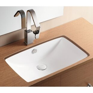 Compare Ceramica II Ceramic Rectangular Undermount Bathroom Sink with Overflow By Caracalla