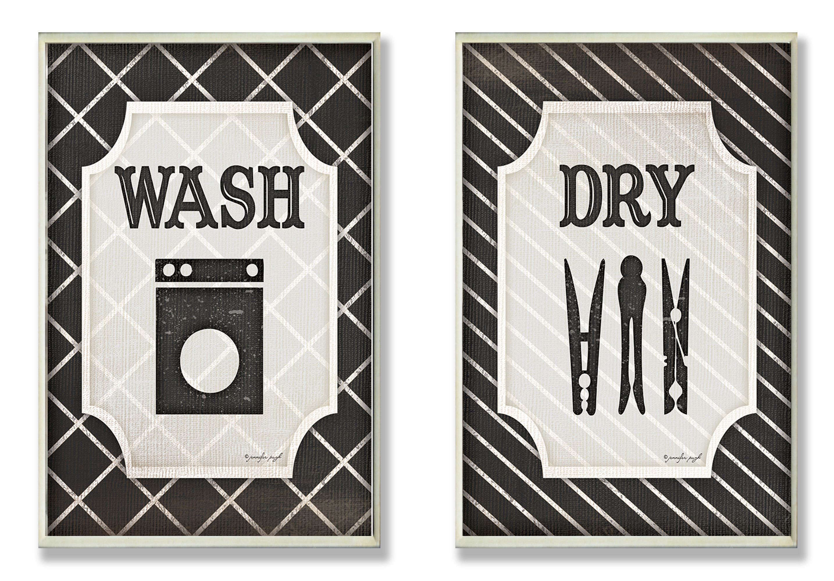 Laundry Wall Plaque Pleasing Laurel Foundry Modern Farmhouse Wash And Dry' Black And White Design Ideas