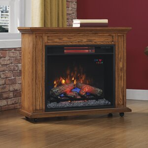 duraflameu00ae Rolling Mantel Electric Fireplace