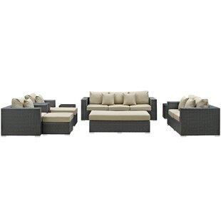 Tripp 9 Piece Sunbrella Sofa Set with Cushions by Brayden Studio