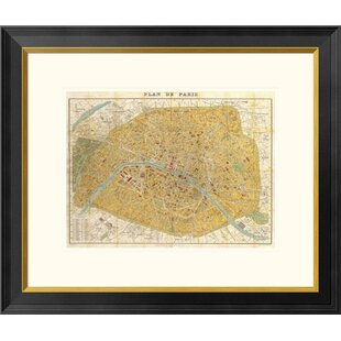 Gilded map by all that glitters graphic art on wayfair gilded map of paris by joannoo framed graphic art sciox Images