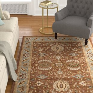 Compare prices Cranmore Brown & Blue Area Rug ByCharlton Home