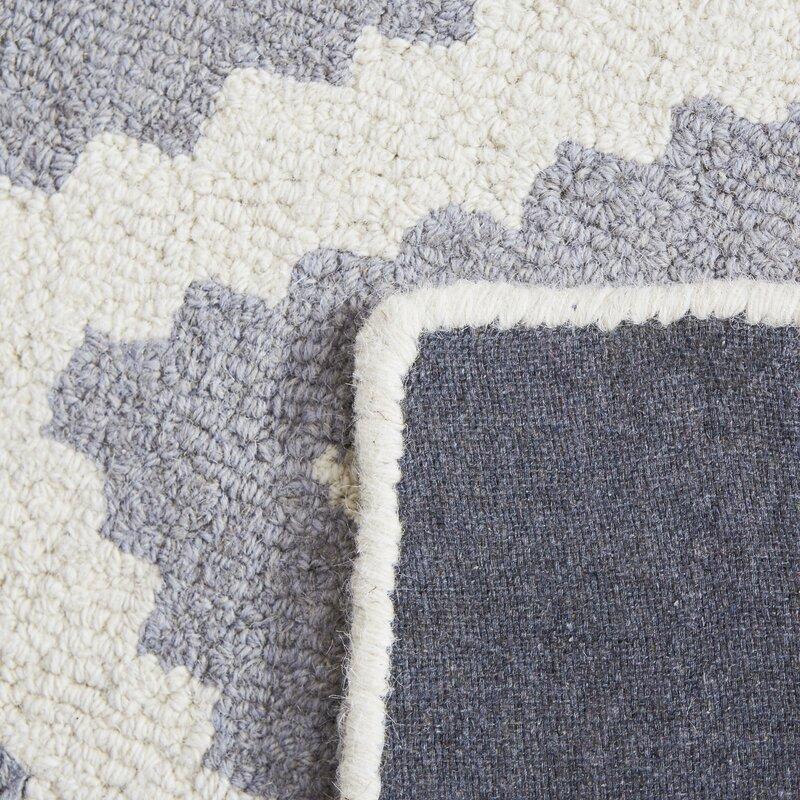 Jillian Hand Woven Wool Gray Area Rug