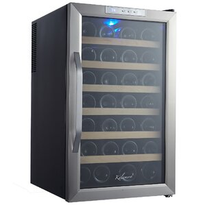 28 Bottle Single Zone Freestanding Wine Cooler by Kalamera