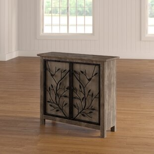 Dalia Rustic Wood and Metal Tree 2 Door Cabinet by Laurel Foundry Modern Farmhouse