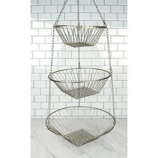 Read Reviews 3-Tier Hanging Wire Basket By Rebrilliant