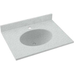 Best Reviews Ellipse Solid Surface 25 Single Bathroom Vanity Top BySwan