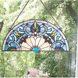 Corista Half Moon Stained Gl Window Panel